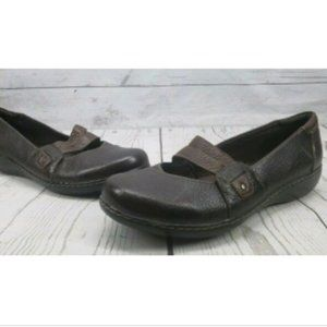 Clarks Bendable Slip on Loafer Sz 11 M Two Tone
